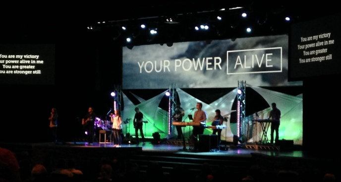 Worship here at Venture. The video on the center screen was a fun project I did not long after starting my new job.